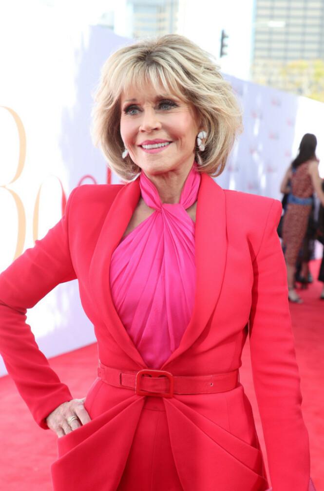 <strong>TAKKNEMLIG:</strong> Skuespillerstjernen Jane Fonda forteller i intervjuet med britiske Vogue at hun aldri trodde hun ville leve så lenge. Foto: NTB scanpix