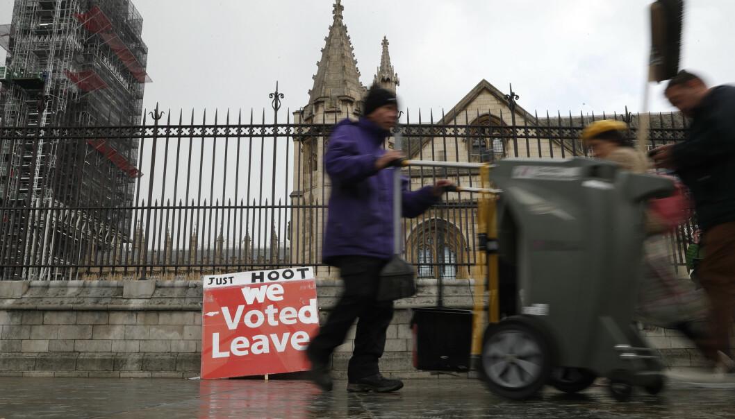 Britene forbereder seg på et uønsket EU-valg Foto: AP Photo/Alastair Gran