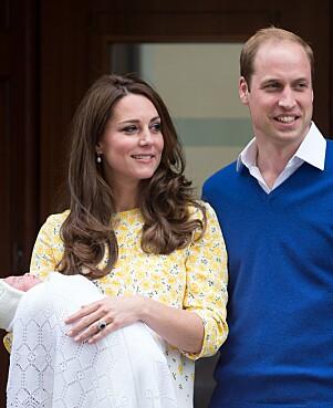 <strong>ANDRE GANG:</strong> To år senere, da prinsesse Charlotte kom til verden, var hertugparet tilbake. Foto: NTB scanpix