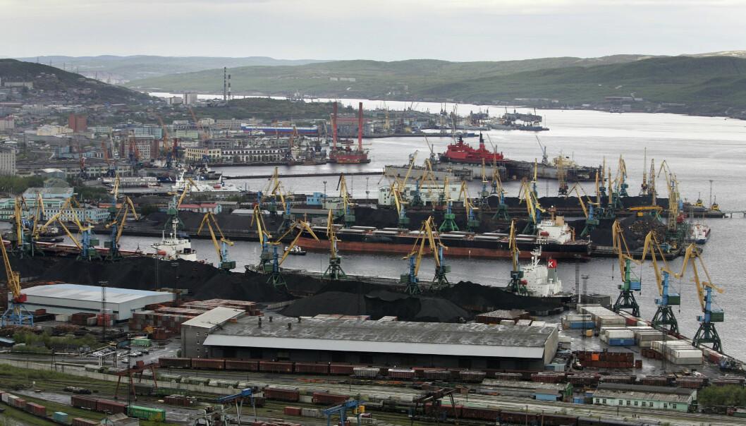 Havna i Murmansk. (Foto: Erlend Aas / Scanpix .)