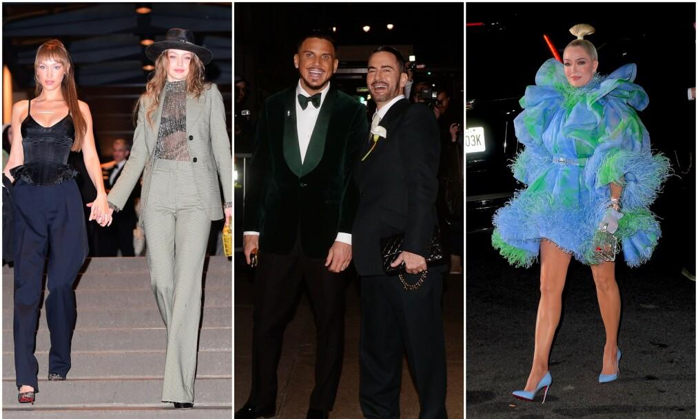 KJENDISSPEKKET: Flere store stjerner var på plass da designer Marc Jacobs (i midten til høyre) fikk sin Char Defrancesco. Foto: NTB Scanpix