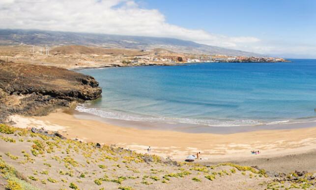 SLIK SER DEN EGENTLIG UT: Playa Grande på Tenerife er en yndet turistfavoritt. Foto: Tenerife Info