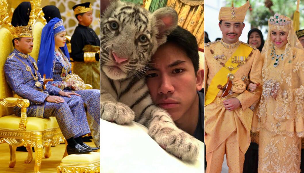 OVERDÅDIG LUKSUS: Kongefamilien i Brunei har store verdier og lever i sus og dus. Foto: NTB Scanpix / Instagram