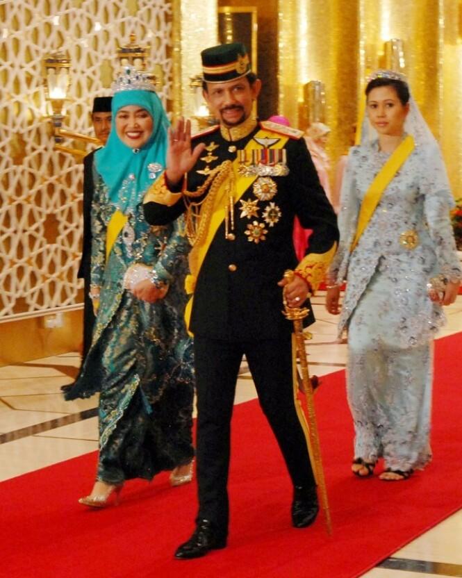 SULTAN: Dette er den kontroversielle sultanen i Brunei, den styrtrike Hassanal Bolkiah. Foto: NTB Scanpix