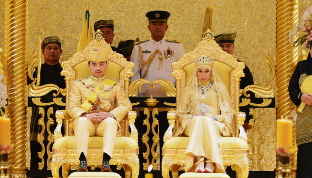STORSLÅTT: Slik så det ut da sultanens sønn giftet seg i 2015. Foto: NTB Scanpix
