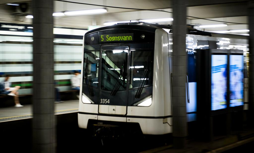 T-banen i Oslo stenges gjennom sentrum i påsken. Foto: Jon Olav Nesvold / NTB scanpix