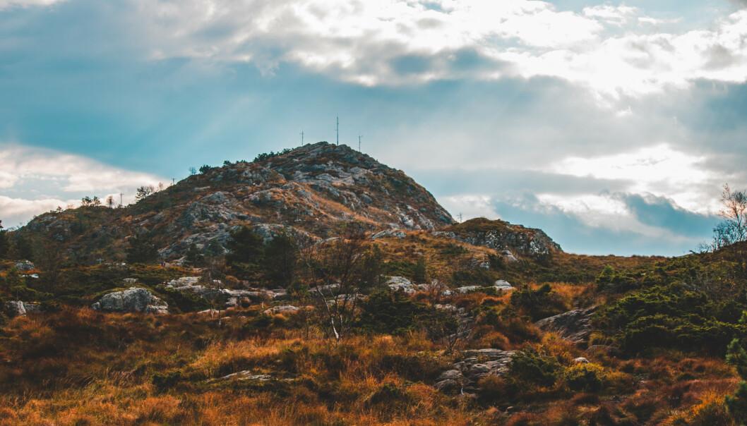 TROLLDOM: Her på fjellet Lyderhorn i Bergen mente folk at Anne hadde heksesamlinger for å ramme Bergen by. Foto: Alexander Vow / Shutterstock / NTB scanpix.