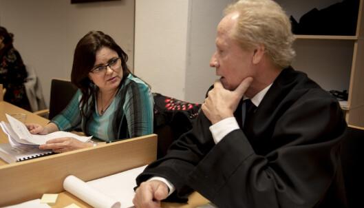 Merete Hodne og hennes advokat Per Danielsen. Foto: Carina Johansen / NTB Scanpix
