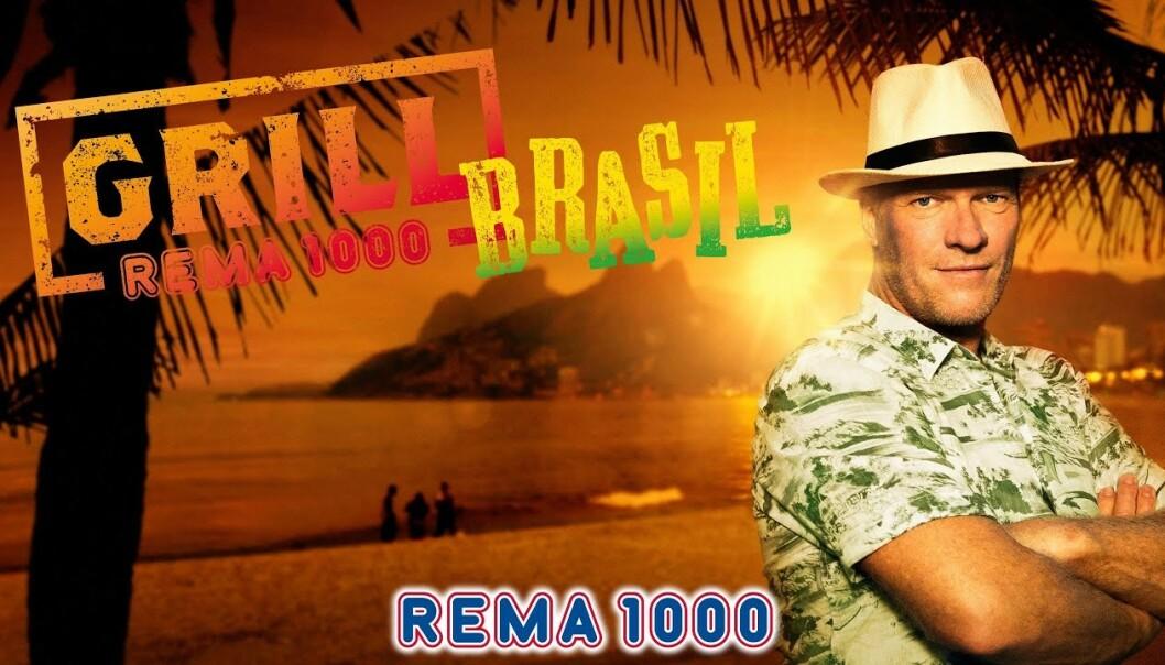 GRILLKAMPANJER: Rema 1000 har jobbet mye med å utvikle grillkategorien, og introdusert flere nye kjøkken. Her er den brasilianske kampanjen, som ble frontet av Sven Nordin, noen år tilbake. Arkivfoto: Rema 1000
