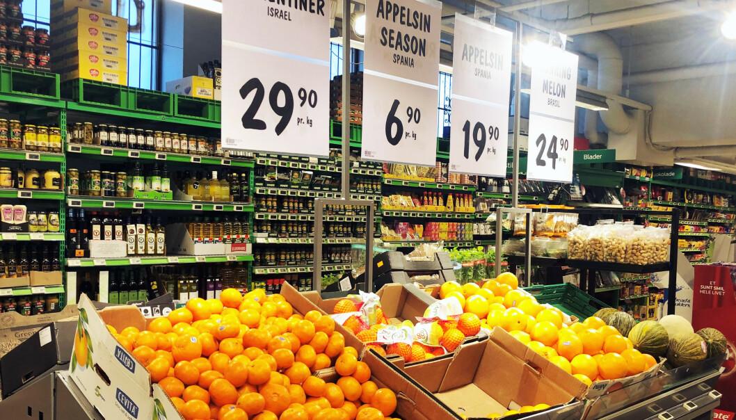 APPELSINER: Mandag morgen har Kiwi fortsatt de rimeligste billig-appelsinene, mens Extra og Rema 1000 har premium-appelsiner til 16,90 kroner per kilo.