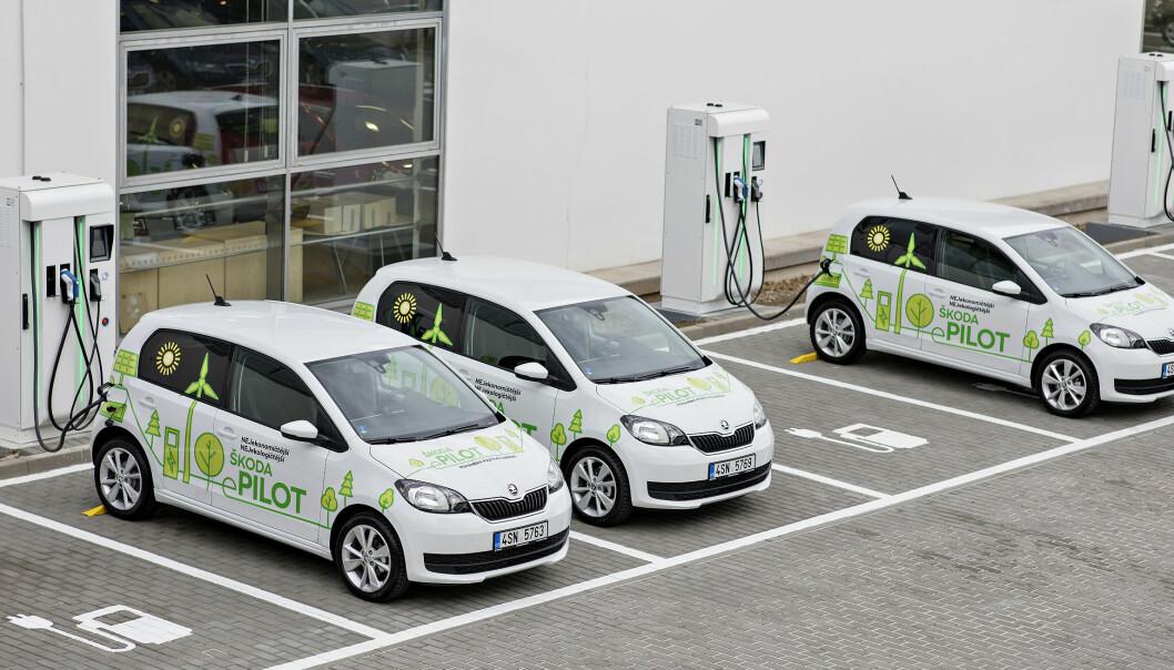 Skoda Citigo E: Den lille bybilen blir nå full-elektrisk. Foto: Skoda