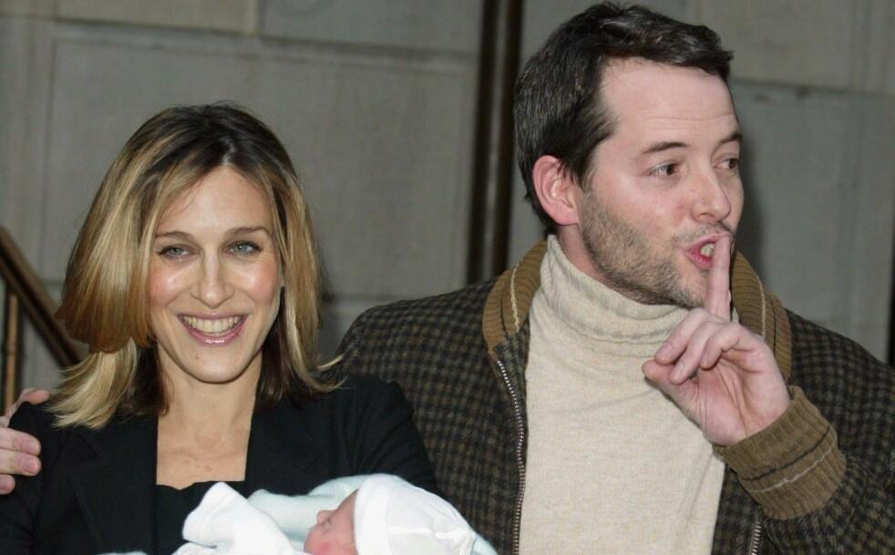 SURROGAT: Sex and the City-stjernen Sarah Jessica Parker har tre barn sammen med skuespiller Matthew Broderick. Det første barnet ble født i 2002, og syv år senere fikk de tvillinger gjennom en surrogatmor. FOTO: NTB Scanpix