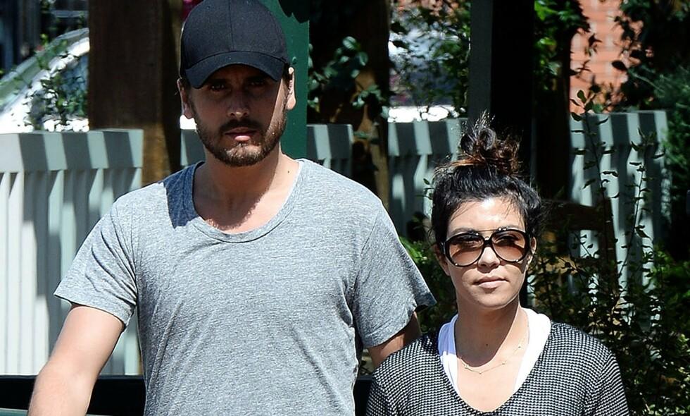 BRUDD: Scott Disick og Kourtney Kardashian var et par i ni år før det tok slutt. Nå har det kommet frem at duoen tidligere har snakket om at de skulle finne tilbake til hverandre i 40-årene. Foto: NTB scanpix