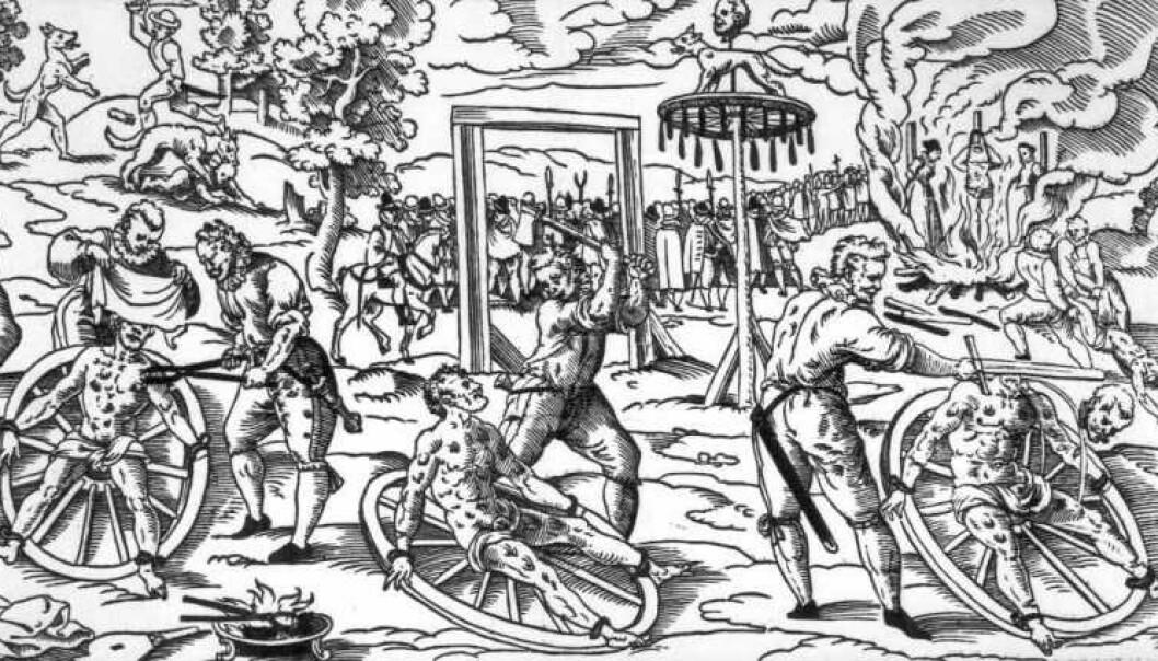 <strong>TORTUR OG DRAP:</strong> Alle visste hvem skarpretteren var i den enkelte by. Ingen av dem hadde et spesielt godt rykte. Foto: Wikipedia