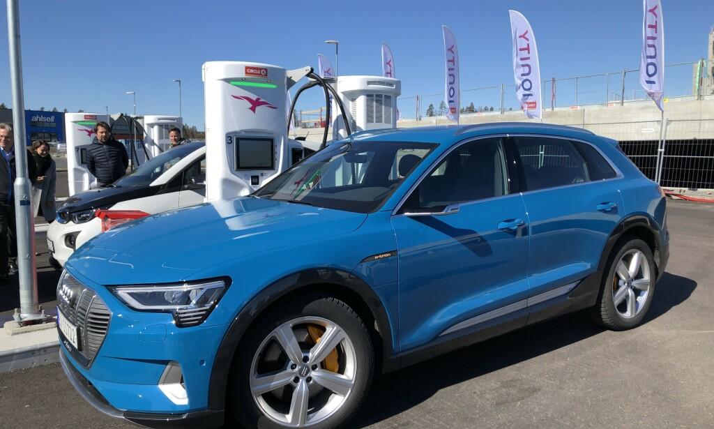 RASKEST: Audi e-tron er en av bilene som per i dag den bilen som kan ta raskest ladehastighet. Foto: Fred Magne Skillebæk