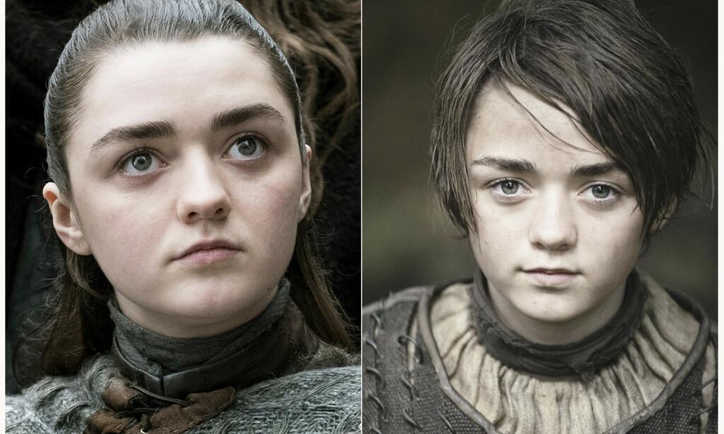 LISTE: Fansen har fulgt Arya Stark, spilt av Maisie Williams, fra hun var barn. Vil hun fullføre listen over de hun vil drepe? FOTO: HBO / AP