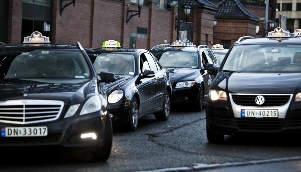 Regjeringens taxi-liberalisering får næringen til å reagere. Foto: Aleksander Andersen / NTB scanpix