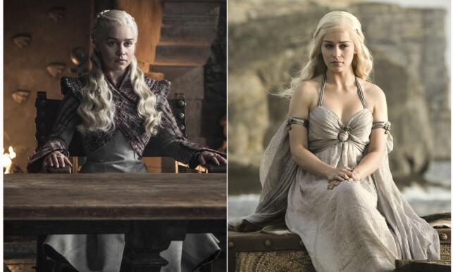 DRAGEMOREN: Emilia Clarke har spilt dragemoren Daenerys Targaryen i nesten ni år. Foto: NTB Scanpix