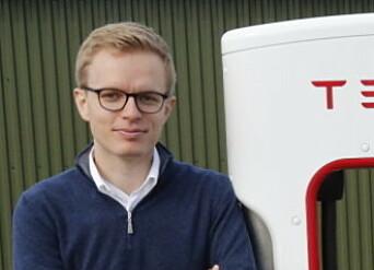 IKKE SVIKT: Tesla har ikke funnet feil på bremsesystemet, sier kommunikasjonssjef i tesla, Even Sandvold Roland. Foto NTB Scanpix