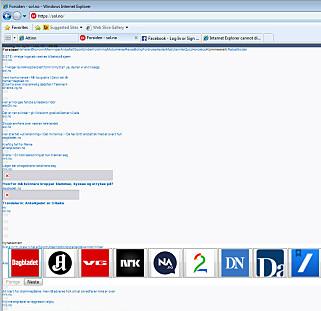 80.000 lesere går til Sol.no fra Internet Explorer 8 i året. Dette er hva de ser. 📸: Jørgen Jacobsen