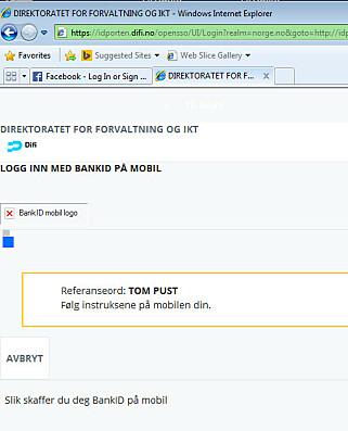 Internet Explorer 8 har ikke støtte for bank-id på mobil. Noe vi får merke på offentlige norske tjenester. 📸: Jørgen Jacobsen