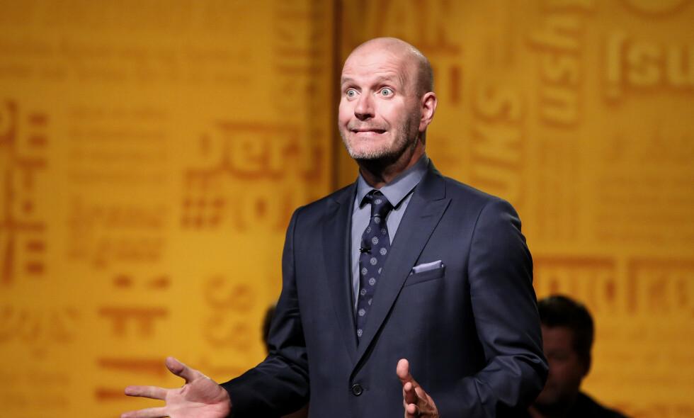 Bård er best: Har Bård Tufte Johansen akkurat fortalt en vits som gikk litt for langt? Helt sikkert. Foto: NRK