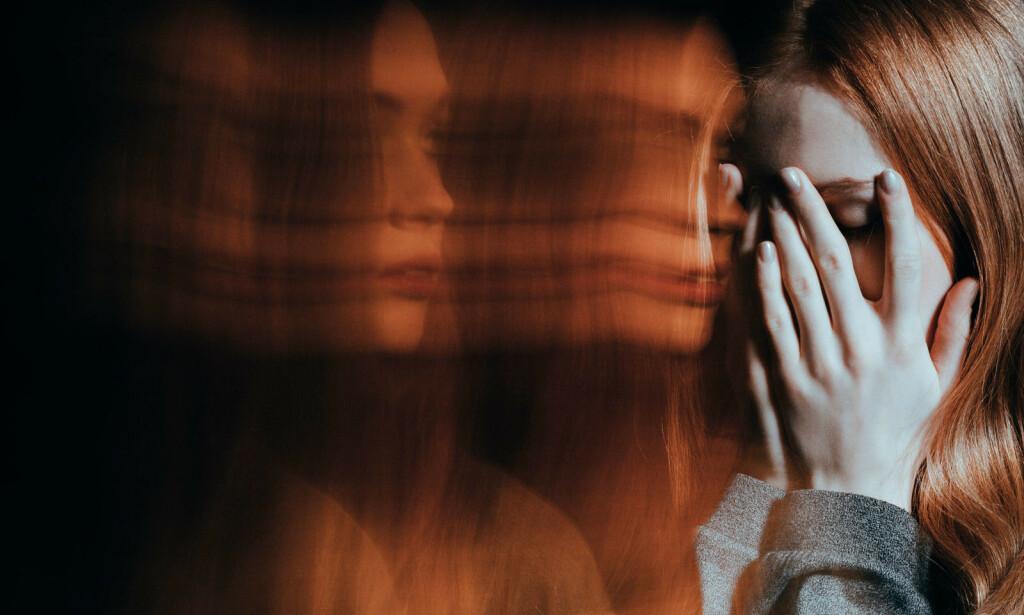 REALITETSBRIST: Ved psykose har man vansker med å forholde seg til virkeligheten. Noen kan bli engstelig og redd av skremmende vrangforestillinger og hallusinasjoner. Foto: NTB Scanpix/Shutterstock