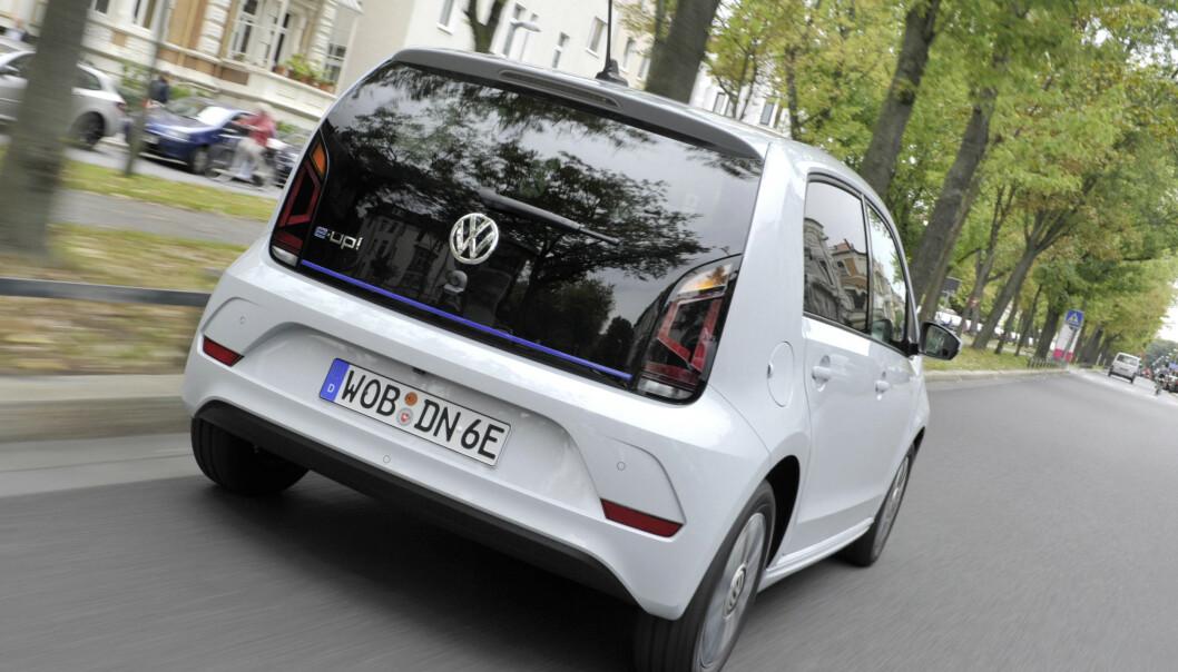 DELES: e-UP deles med slektningene Skoda og Seat, som også kommer med tilsvarende modeller. Foto: VW