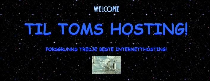 Toms Hosting - vår evinnelige kilde til utømmelige problemer.