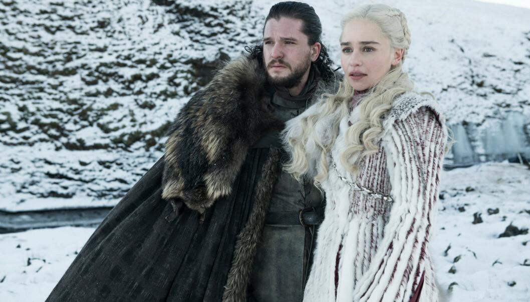 <strong>SLUTTEN FOR GOT:</strong> Det er knyttet store forventninger til hvordan det hele skal ende for Jon Snow (spilt av Kit Harington) og Daenerys Targaryen (spilt av Emilia Clarke), når åttende og siste sesong ruller over skjermen. Hvem overtar Jerntronen, hvem skal dø og er Daenerys gravid? Svarene på de utallige spørsmålene får vi i løpet av de siste seks episodene av det popkulturelle fenomenet: Game of Thrones. FOTO: HBO
