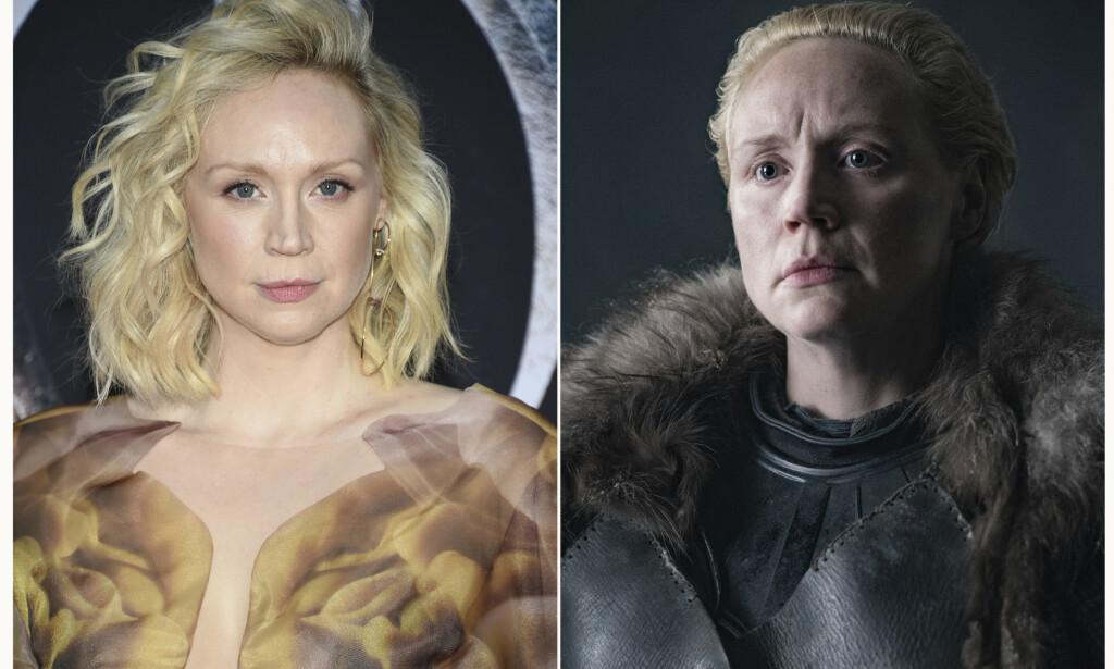 BRIENNE OF TARTH: Gwendoline Christie (40) har siden seriens andre sesong spilt rollen som den tøffe krigeren Brienne. Foto: NTB Scanpix