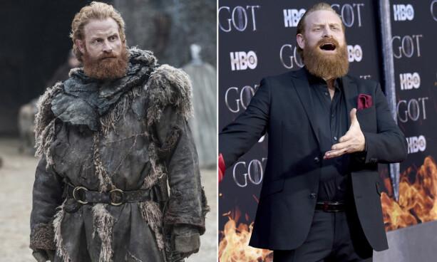 ENESTE NORDMANN: Kristofer Hivju (40) er den eneste nordmannen som kapret en rolle i serien. Han spiller Tormund Giantsbane. Foto: NTB Scanpix