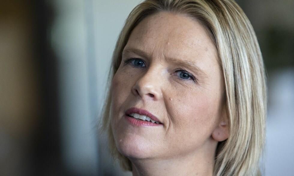 """Oslo  20181024. Sylvi Listhaug presenterte sin bok kalt  """"Der andre tier"""" som blir gitt ut på Kagge forlag. Foto: Tore Meek / NTB scanpix"""