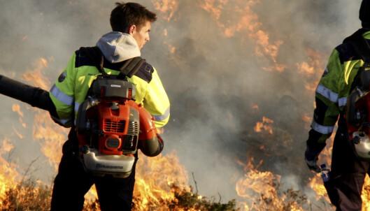 Politiet advarer om tørt terreng og brannfare flere steder