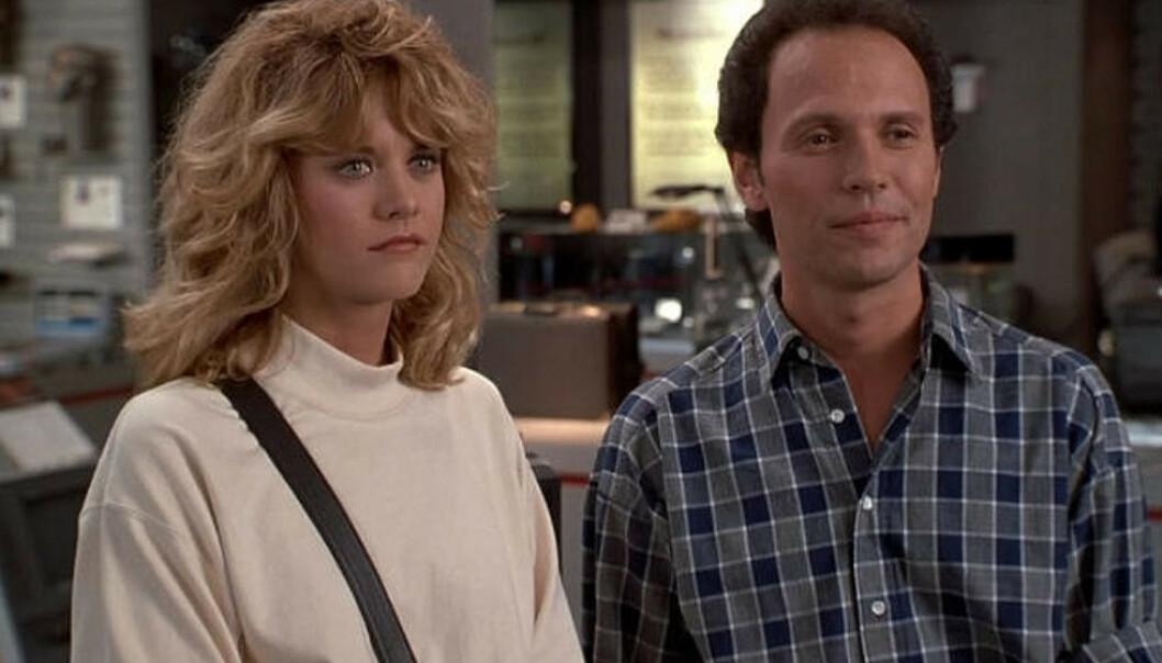 1989: Slik så det ut da Meg Ryan og Billy Crystal spilte hovedrollene som Sally og Harry i «Da han møtte henne». FOTO: Columbia Pictures