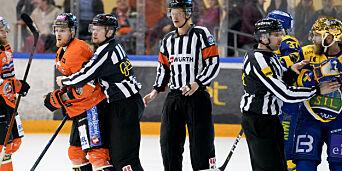 image: Norsk hockeydommer trekker seg fra finalekamp etter hets