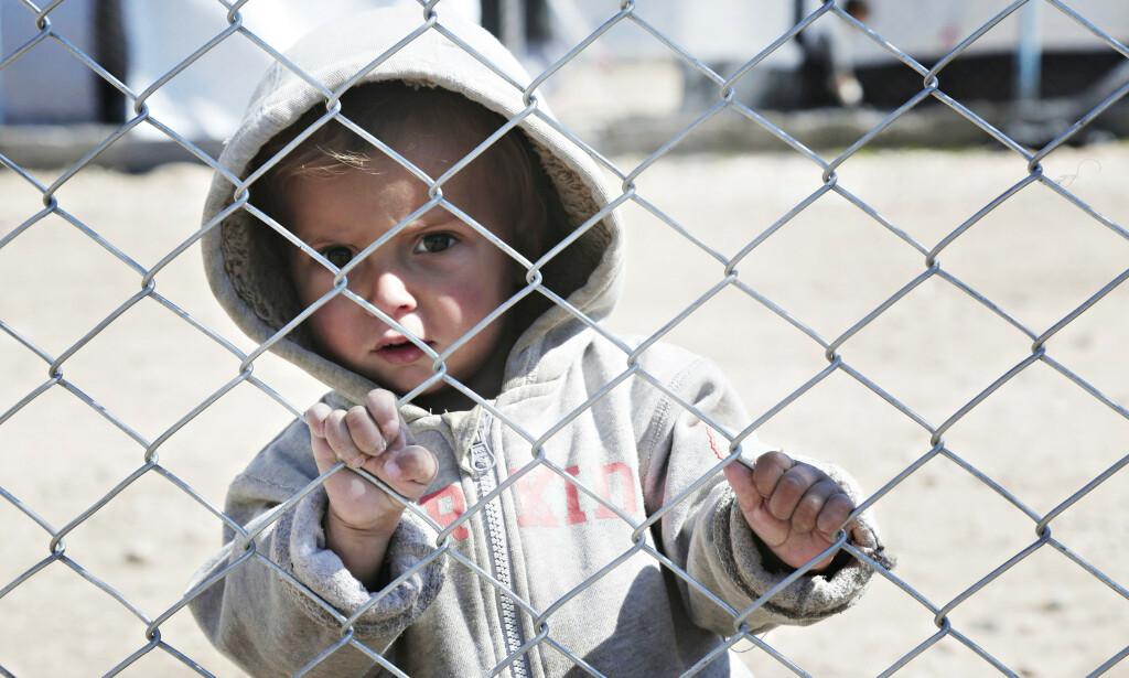 I LEIREN: Et barn i flyktningleiren Al Hol i Syria. Foto: NTB Scanpix