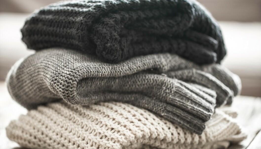 ULLVASK: Ull trenger ikke vaskes like ofte som syntetiske plagg. FOTO: Scanpix