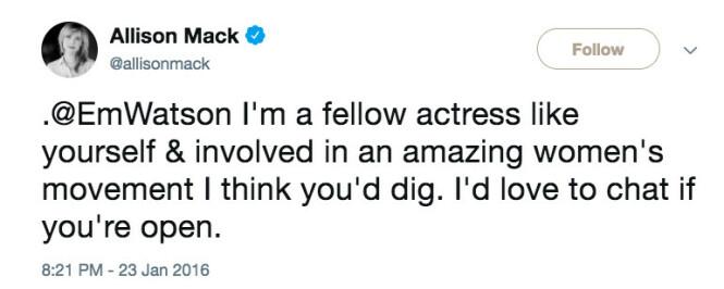 <strong>EMMA WATSON:</strong> I 2016 prøvde Allison Mack å komme i kontakt med Emma Watson for å snakke om kvinnegruppen. Foto: NTB Scanpix
