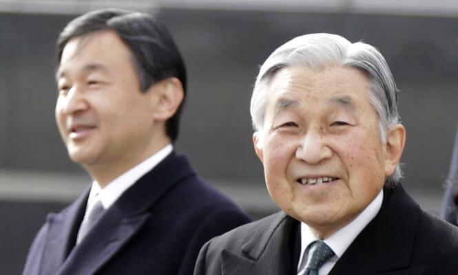 ABDISERER: Etter 30 år på tronen, går keiser Akihito av 30. april 2019. Da trer sønnen, kronprins Naruhito, inn i hans rolle. Foto: NTB Scanpix