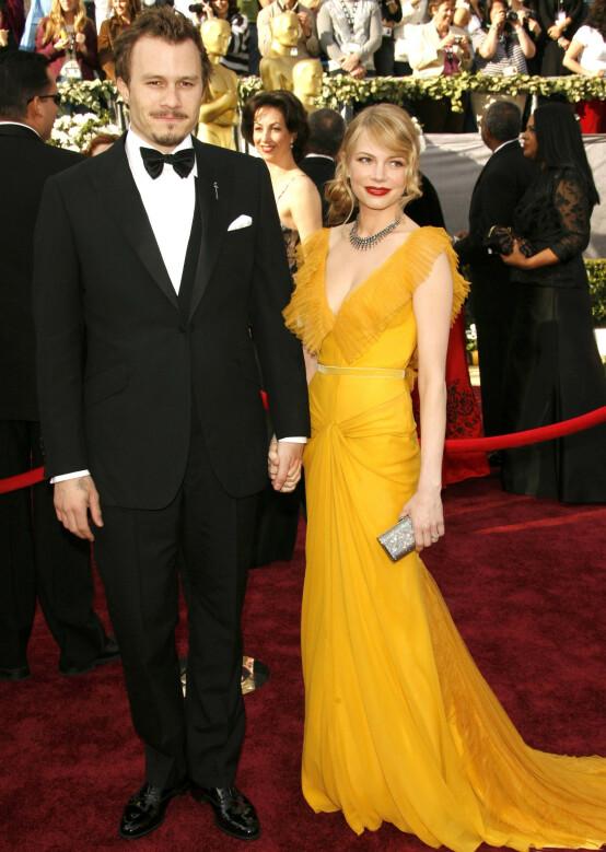 FIKK BARN SAMMEN: Michelle Williams og Heath Ledger sammen i 2006. Foto: NTB Scanpix