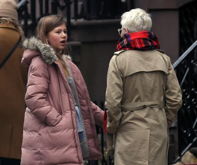 MOR OG DATTER: Michelle og datteren Matilda i New York sammen i fjor. Foto: NTB Scanpix