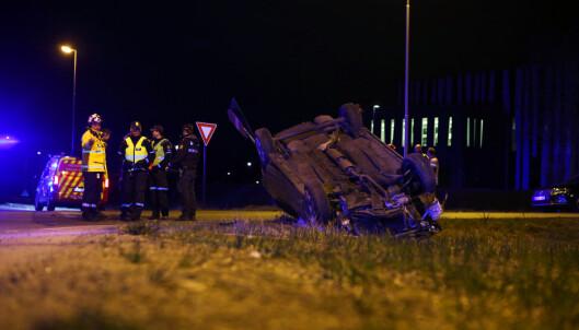 Mann omkom i trafikkulykke