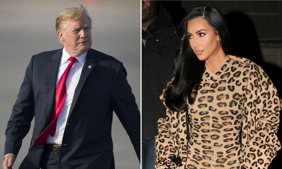 ADVART: Kim Kardashian forteller at flere har advart henne om at et samarbeid med Trump og Det hvite hus kan få konsekvenser for karrieren hennes. FOTO: NTB Scanpix