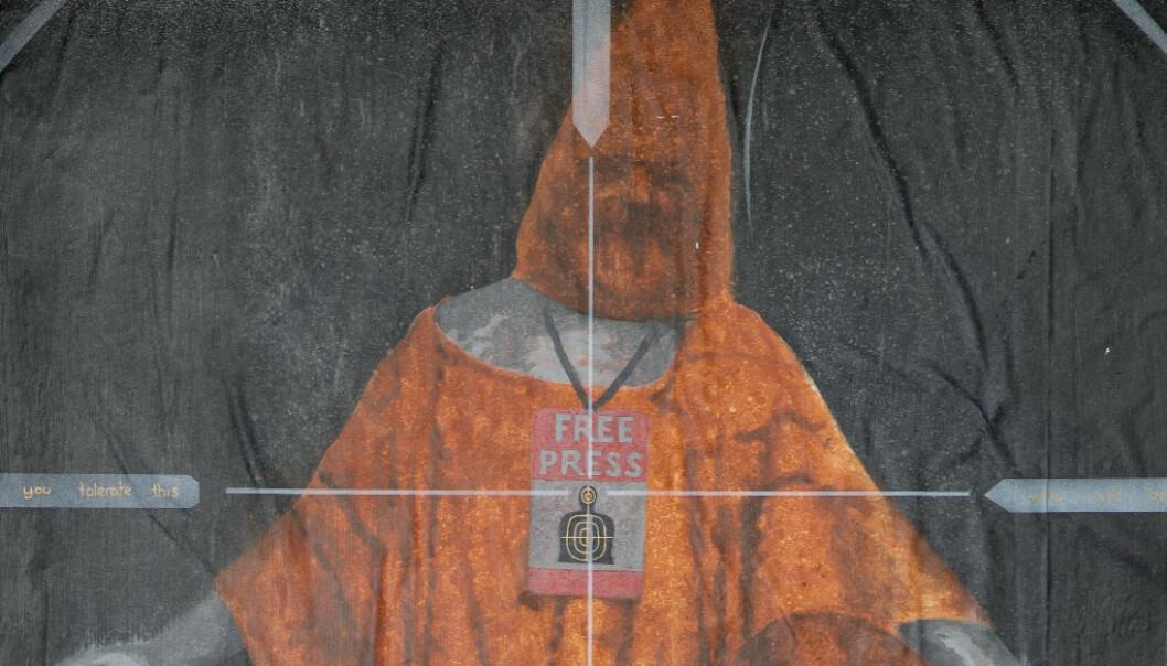 Assange-bildet i Bergen er fjernet