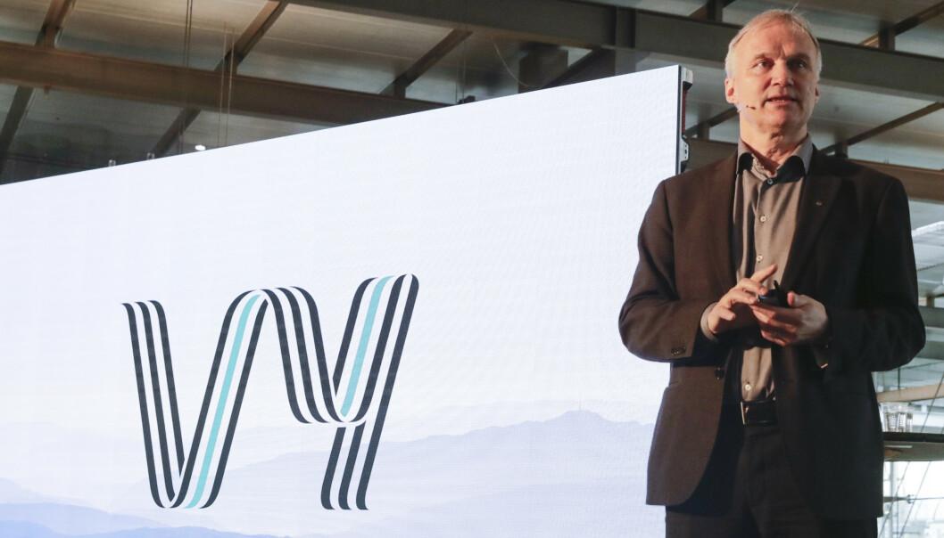 Geir Isaksen, presenterer nytt felles navn for NSB og Nettbuss. Foto: Berit Roald / NTB scanpix Priser
