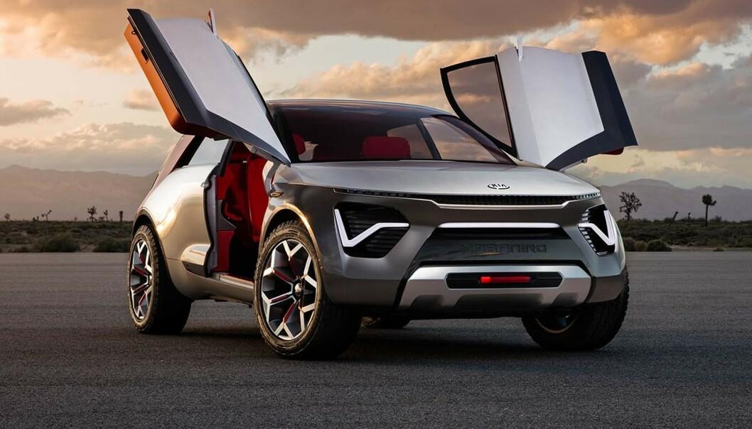 <strong>MYE KRYDDER:</strong> Kia HabaNiro skal gi innblikk i fremtidens biler fra bilprodusenten. Foto: Kia