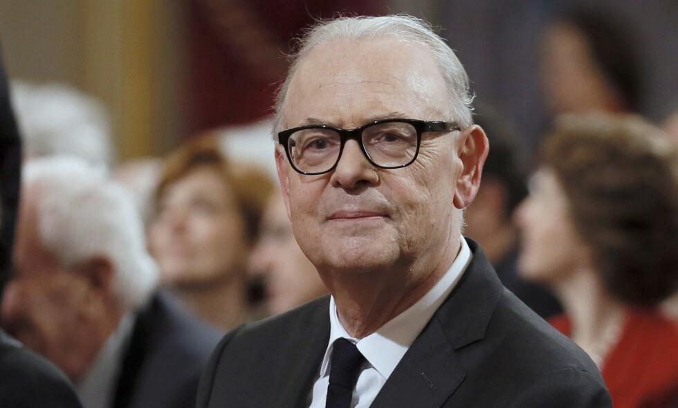 PRISVINNENDE: Den franske forfatteren Patrick Modiano har skrevet 28 romaner og flere filmmanus. For sitt omfattende forfatterskap ble han i 2014 tildelt Nobelprisen i litteratur. Foto: NTB Scanpix