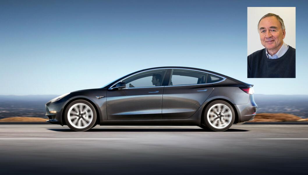UFORSTÅENDE: Lasse Fridstrøm (innfeldt) i Transportøkoonomisk Institutt mener rapporten er basert på nærmest absurd tendensiøse forutsetninger. Foto: Tesla / TØI.