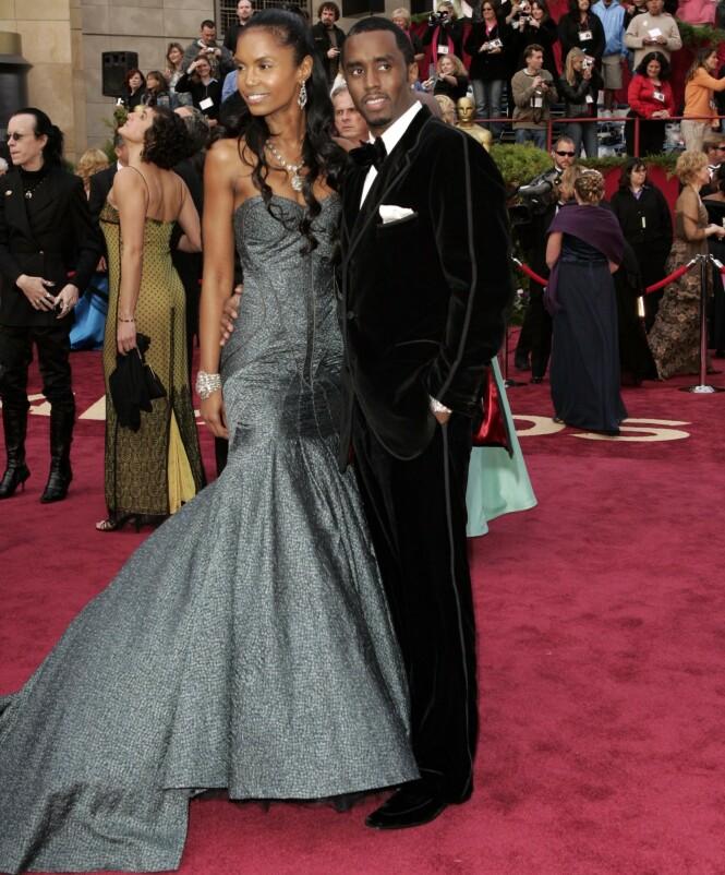 VAR KJÆRESTER: Kim Porter og «P. Diddy» var et par i mange år. Her sammen i 2005. Foto: NTB scanpix